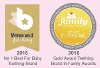 No.1 best for Baby Teething Brand and Gold Award Teething Brand in Family Awards
